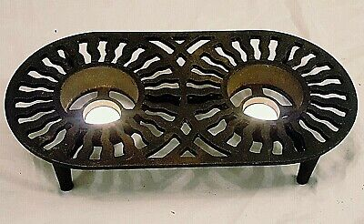 British Victor Robert Welch Design Double Cast Iron Table Food Warmer Trivet