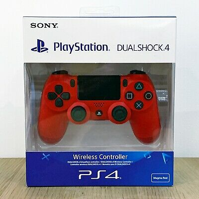 Genuine [NEW] Sony PS4 DualShock Controller (RED) for Playstation 4 Wireless V2