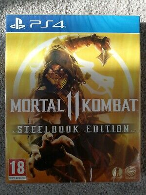 Mortal Kombat 11 Steelbook Edition - PS4 - New factory sealed - Very Rare