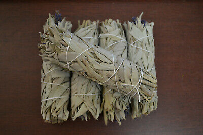 5 Pcs Lavendar White Sage Bundles Smudge Kit Repalcements Spiritual Cleansing 4""