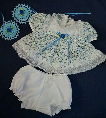 My Child Doll Blue Party Dress - Panties -  Barrettes (No Doll)