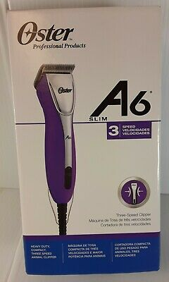 Professional Animal Clippers A6 Slim Purple Trimmers Ultimate Clipping Machine