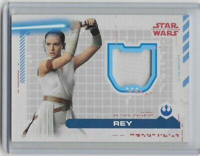 2019 Topps STAR WARS: The Rise of Skywalker REY Costume RELIC WRAP DRESS 58/99