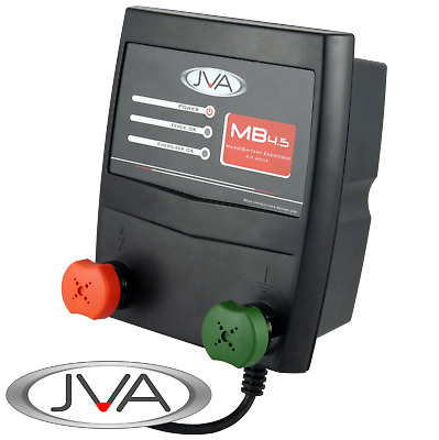 JVA MB4.5 Mains Electric Fence Energizer (Mains/Battery) - 6 Joule, 45 km