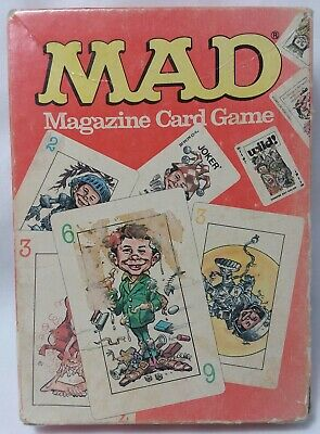 Mad Magazine Card Game Uno Alfred E Neuman Parker Brothers Vintage 75 Cards