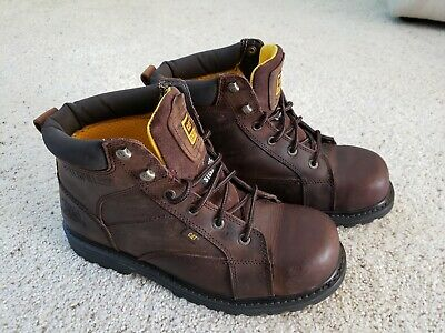 Caterpillar Whiston ST Men's Steel Toe Boots Work and Safety Brown size 11.5