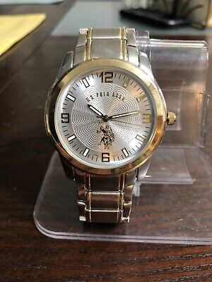 US Polo Assn Mens Usc80031 Two Tone Analog Watch #6