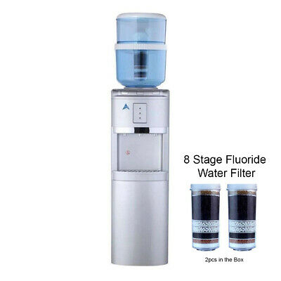 Water Cooler Dispenser Stand hot cold Ambient Two Fluoride Water Filter Silver