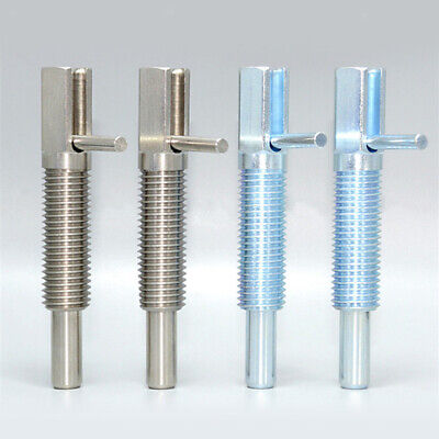Retracted Indexing Plunger Spring without Locking Nut Coarse Thread L Handle