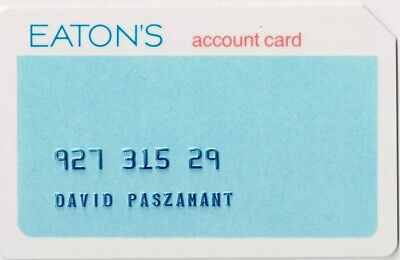 EATON'S Credit Card Canada Department Store Vintage 1970's RARE Charge Card