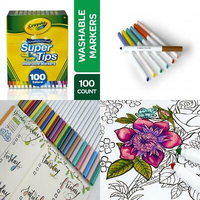Free UK Delivery Crayola Supertips Washable Felt Tip Colouring Pens 100 Markers