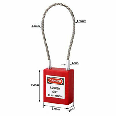 Master Lock Safety Lockout Padlock for Wide Tall Circuit Breakers 3.2mm Shackle