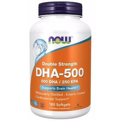Now Foods, DHA-500, Double Strength, Supports Brain Health, 180 Weichkapseln