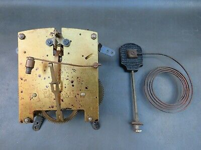 Vintage Enfield mantel clock movement and gong for repair or spares