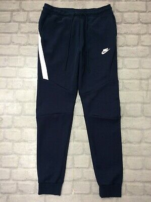 NIKE MENS UK M Tech Fleece Pants Thermal Joggers Obsidian