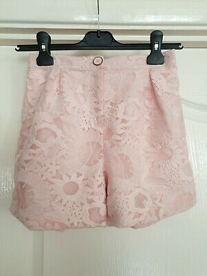 Ted Baker Girls Age 13 Light Pink Lace Shorts - BNWT - Never Worn