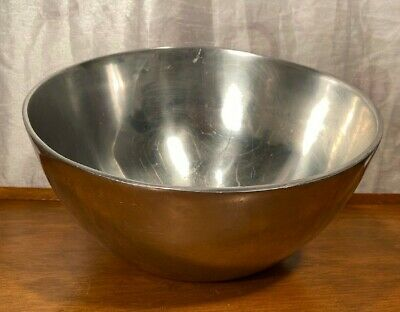 "Nambe #649 Holloware Alloy Metal Luna Moon Bowl 12.5"" Across"