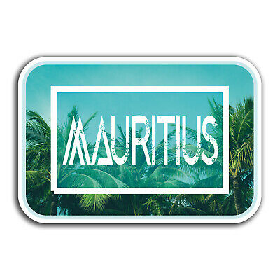 2 x 10cm Mauritius Vinyl Sticker Decal Laptop Luggage Travel Tag Gift Fun #9835