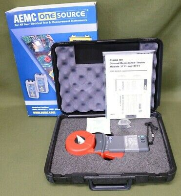 AEMC 3711 Clamp-On Ground Resistance Tester with Hard Case NIB