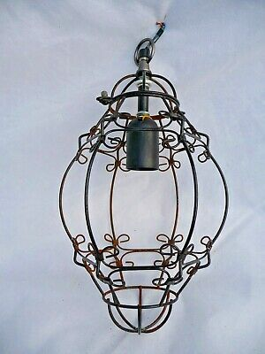Vintage Large Open Porch Lantern Light Intricate metal work design Project