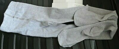 New Next girls Active fressness ribbed tights light Grey  size 5-6 years