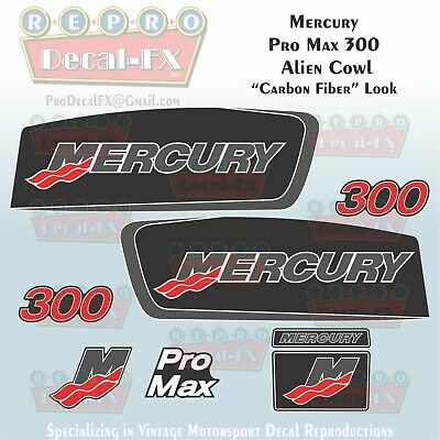 1996-98 Mercury 115HP Decal Outboard Reproduction 3 Piece Marine Vinyl 1997