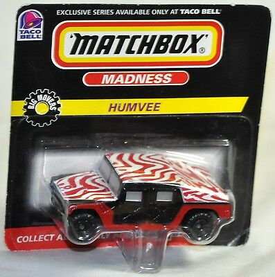 Matchbox 1998 Taco Bell Madness Humvee MOC VHTF Big Movers Series 2