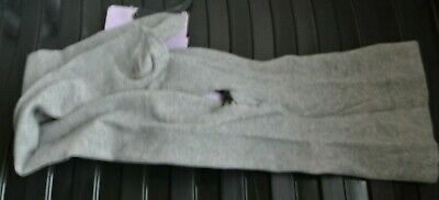 New  girls supersoft cotton rich tights light Grey  size 3-4 years
