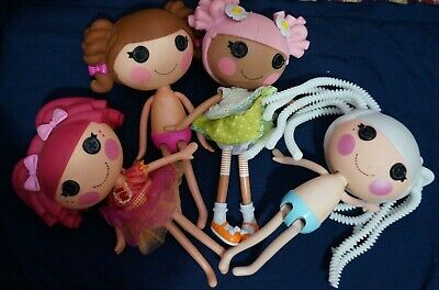 4 Lalaloopsy Dolls - 2 Dressed - 1 Shoes