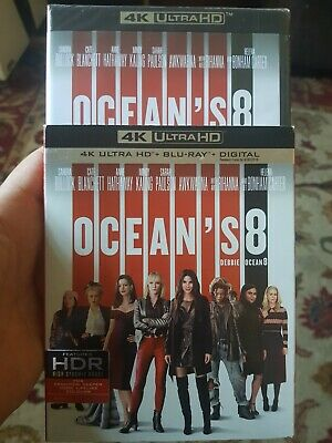 OCEANS 8 4K UHD Blu-ray + Digital Slipcover ( Brand New)