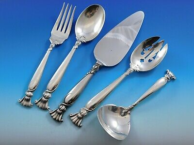 Romance of the Sea by Wallace Sterling Silver Essential Serving Set Large 5-pc