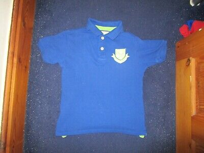 boys boy polo shirt top age 9-10 years short sleeved blue rugby series