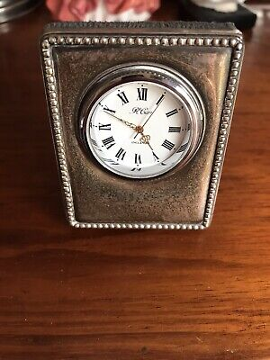 Sterling Silver Carr 925 Hallmarked Clock Made In England