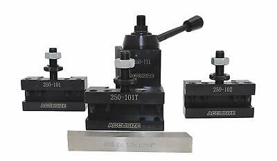 Axa 4 Pc Wedge Type Quick Change Tool Post Set, #0251-0155