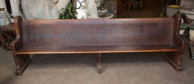 1902 Solid Oak Chicago Church Pew 10 ft Rare Find Great Condition 70% OFF