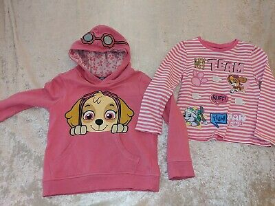 Paw patrol girls long t-shirt + hoodie 5-6  years gorgeous set! Skye