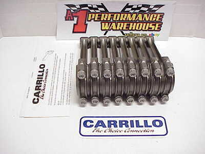 "8 NEW CARRILLO 6.350"" Tapered H Beam Rods with Force Feed Oiling NASCAR"
