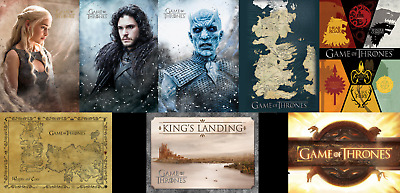 Game Of Thrones Postcard Official Licensed Map Jon Show Daenarys Kings Landing