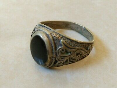 Extremely Rare Ancient Roman Ring Metal Silver Color Artifact Amazing
