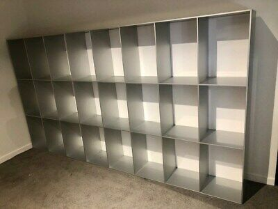 Shelving Unit in Aluminium and Acrylic - manufactured in Italy
