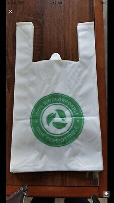 100 x Biodegradable Carrier Bags Medium ECO Carrier Bags