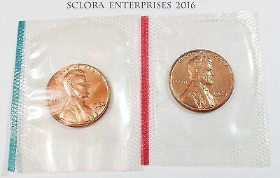 1964 P /& D Lincoln Memorial Cent Penny Set *MINT CELLO*  **FREE SHIPPING**
