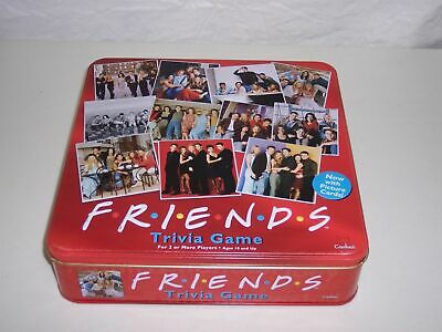 2003 Friends TV Show Trivia Game Seasons 1-8 Pict Cards RED TIN never played?