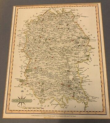 Antique Map Wiltshire Engraver John Cary 1793