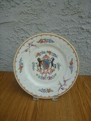 Antique Samson French Armorial Plate Chinese Export