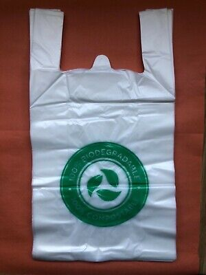 50 x Biodegradable Carrier Bags Medium ECO Carrier Bags