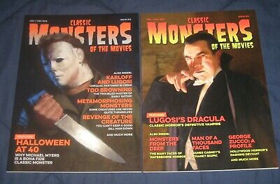 Classic Monsters Of The Movies 2 Mag Lot #13 & 14