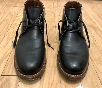 Red Wing Chukka Boots Shoes Leather Black Heritage USA Made Mens 10 D Short
