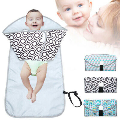 Waterproof Portable Baby Diaper Travel Home Change Changing Pad Mat Nappy Bag