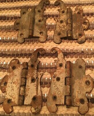 Lot Bronze Brass Architectural Antique Hardware Door Hinges Bromann Bros Chicago